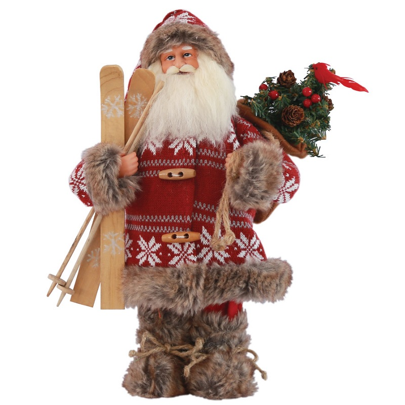 Snowbound Santa Claus Figure