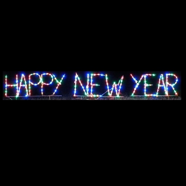 Happy New Year LED Lighted Outdoor Lawn Decoration