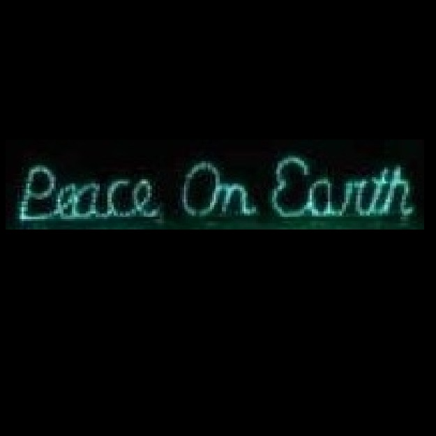 Peace On Earth LED Lighted Outdoor Lawn Decoration