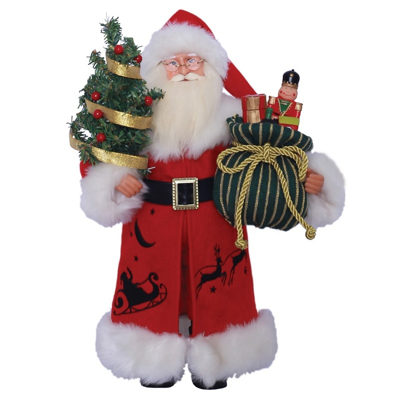 Up Up and Away Santa Claus Figure