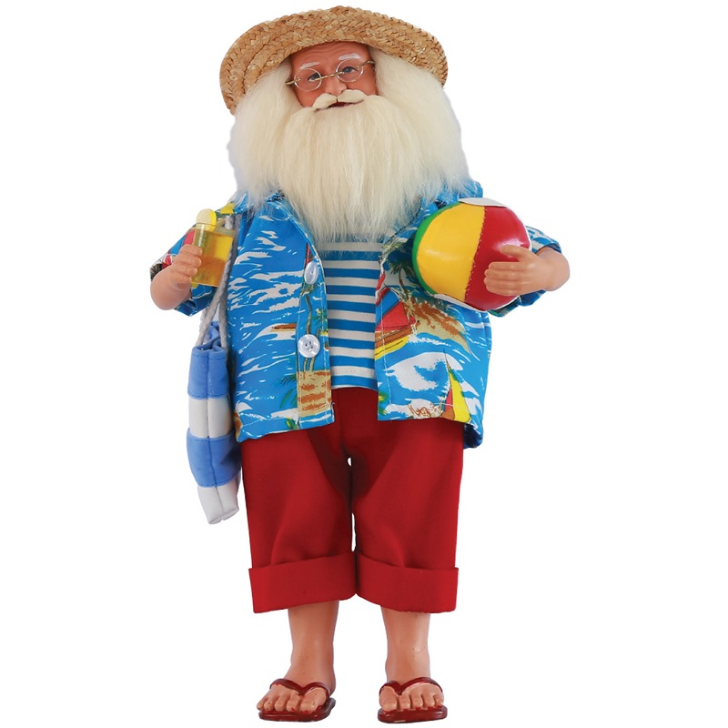 Beach Time Santa Claus Figure