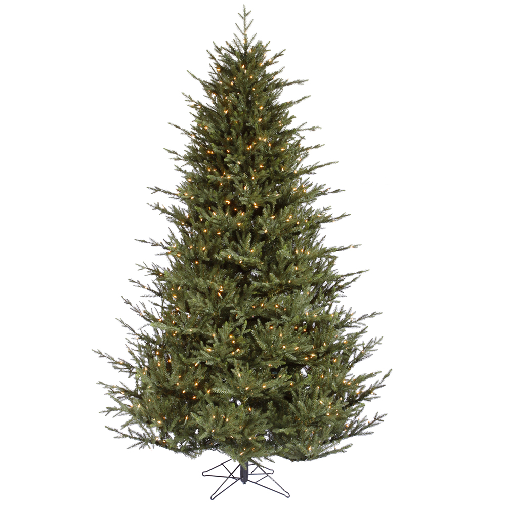 12 Foot Itasca Frasier Artificial Christmas Tree 2100 DuraLit Incandescent Clear Mini Lights