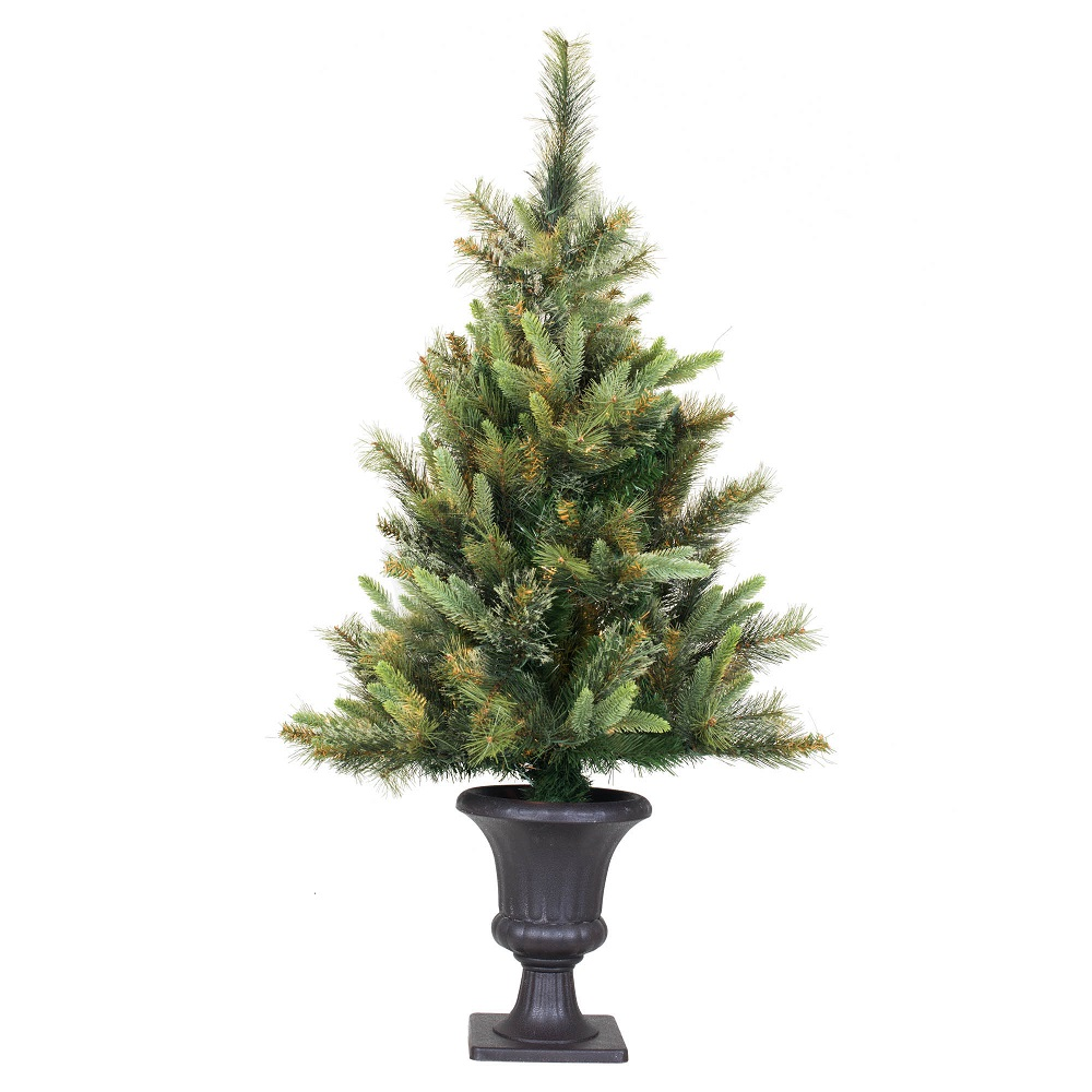 3.5 Foot Cashmere Pine Potted Artificial Christmas Tree Unlit