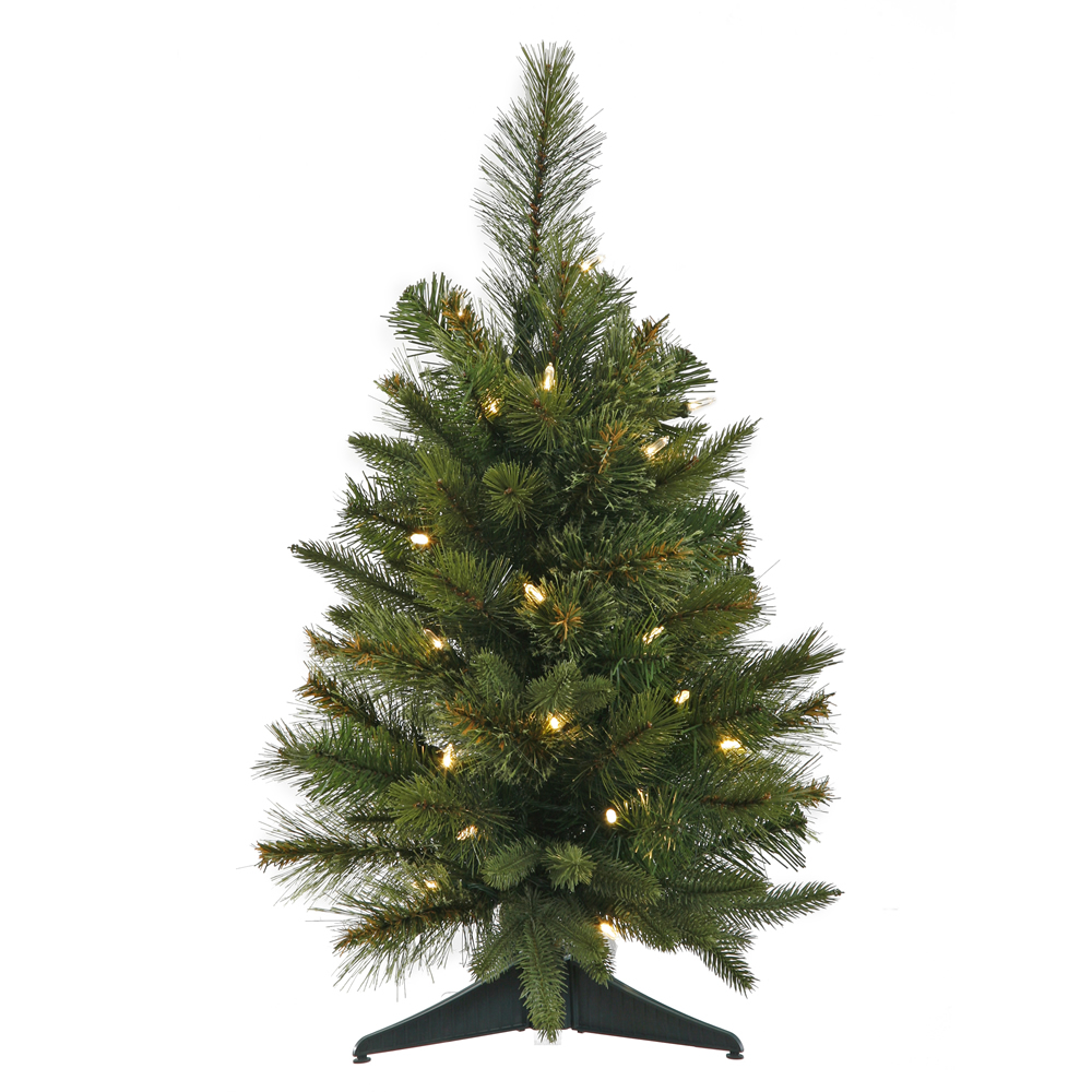 2 Foot Cashmere Pine Artificial Christmas Tree 30 LED M5 Italian Warm White Lights