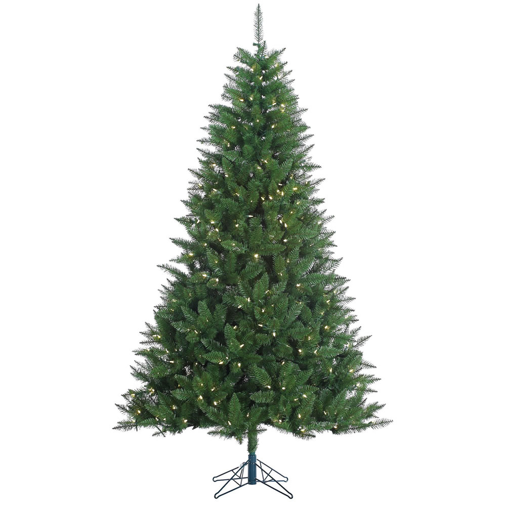 7.5 Foot Lincoln Fir Artificial Christmas Tree 500 LED M5 Italian Warm White Lights