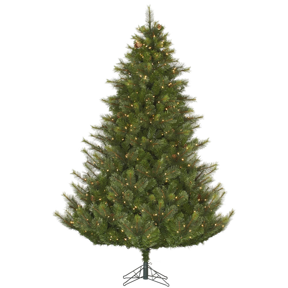 12 Foot Modesto Mixed Pine Artificial Christmas Tree 2200 DuraLit Incandescent Clear Mini Lights