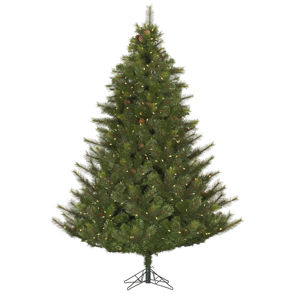 12 Foot Modesto Mixed Pine Artificial Christmas Tree 2200 LED M5 Italian Warm White Lights