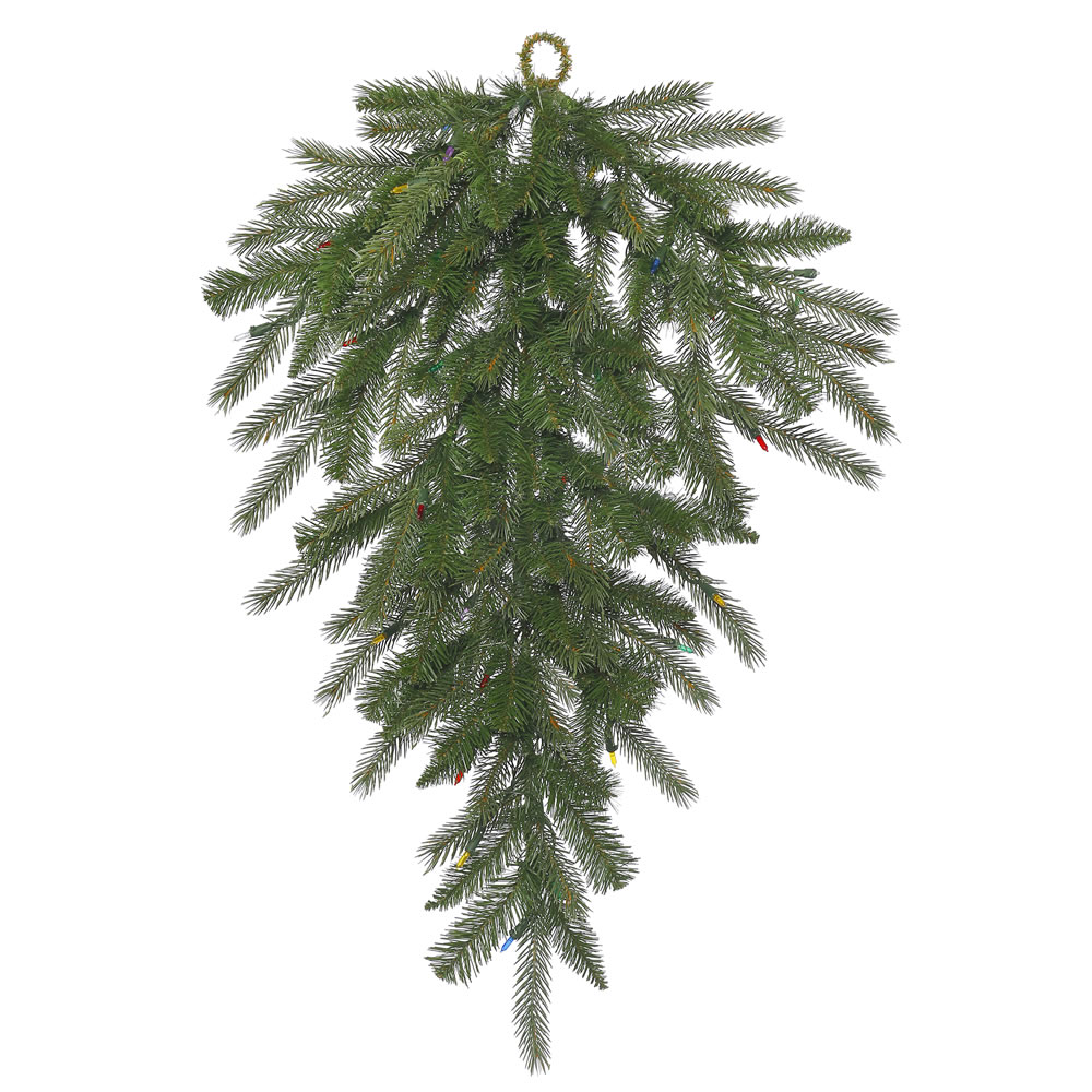 36 Inch Dunhill Fir Artificial Christmas Teardrop Unlit