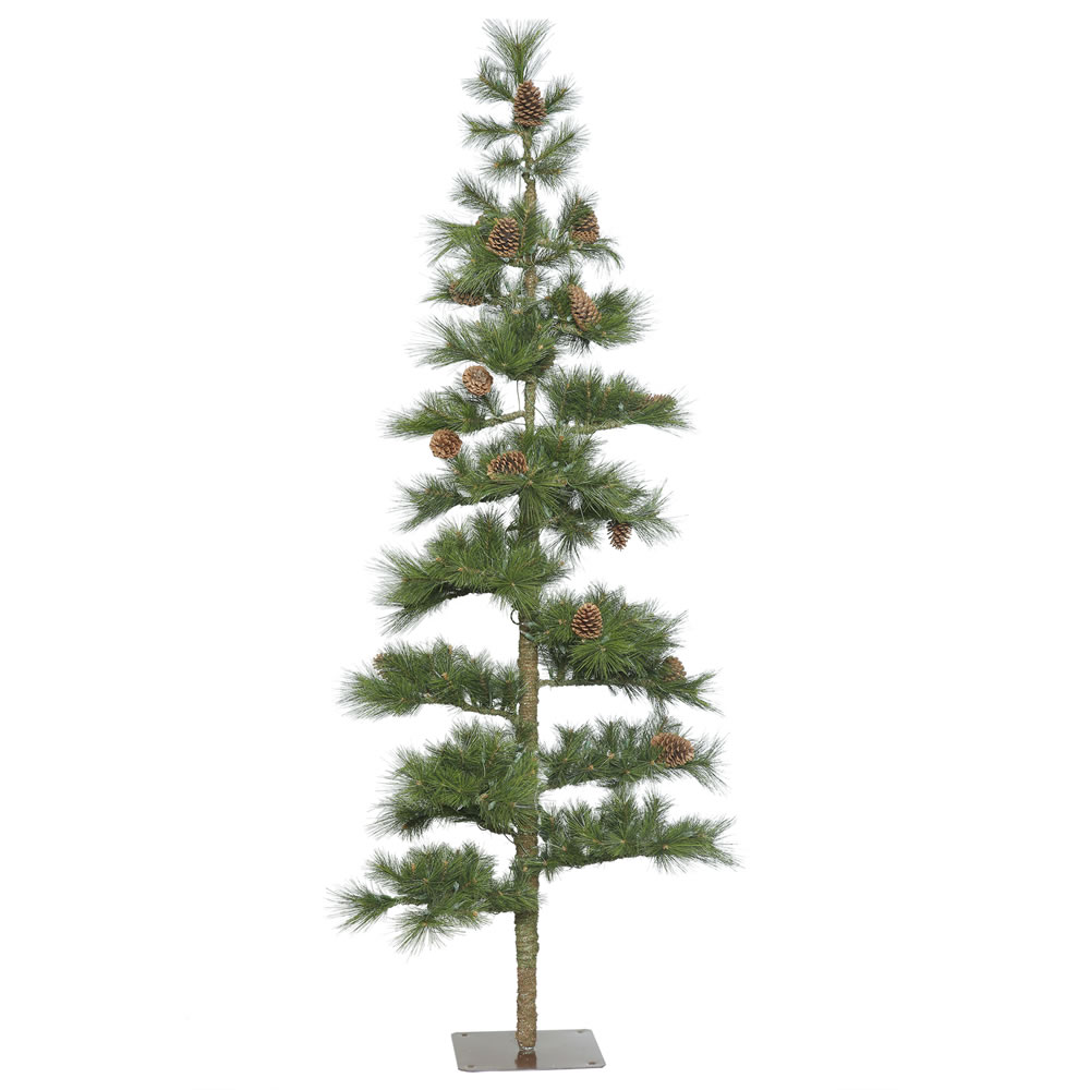 7.5 Foot Mountain Pine Artificial Christmas Tree Unlit
