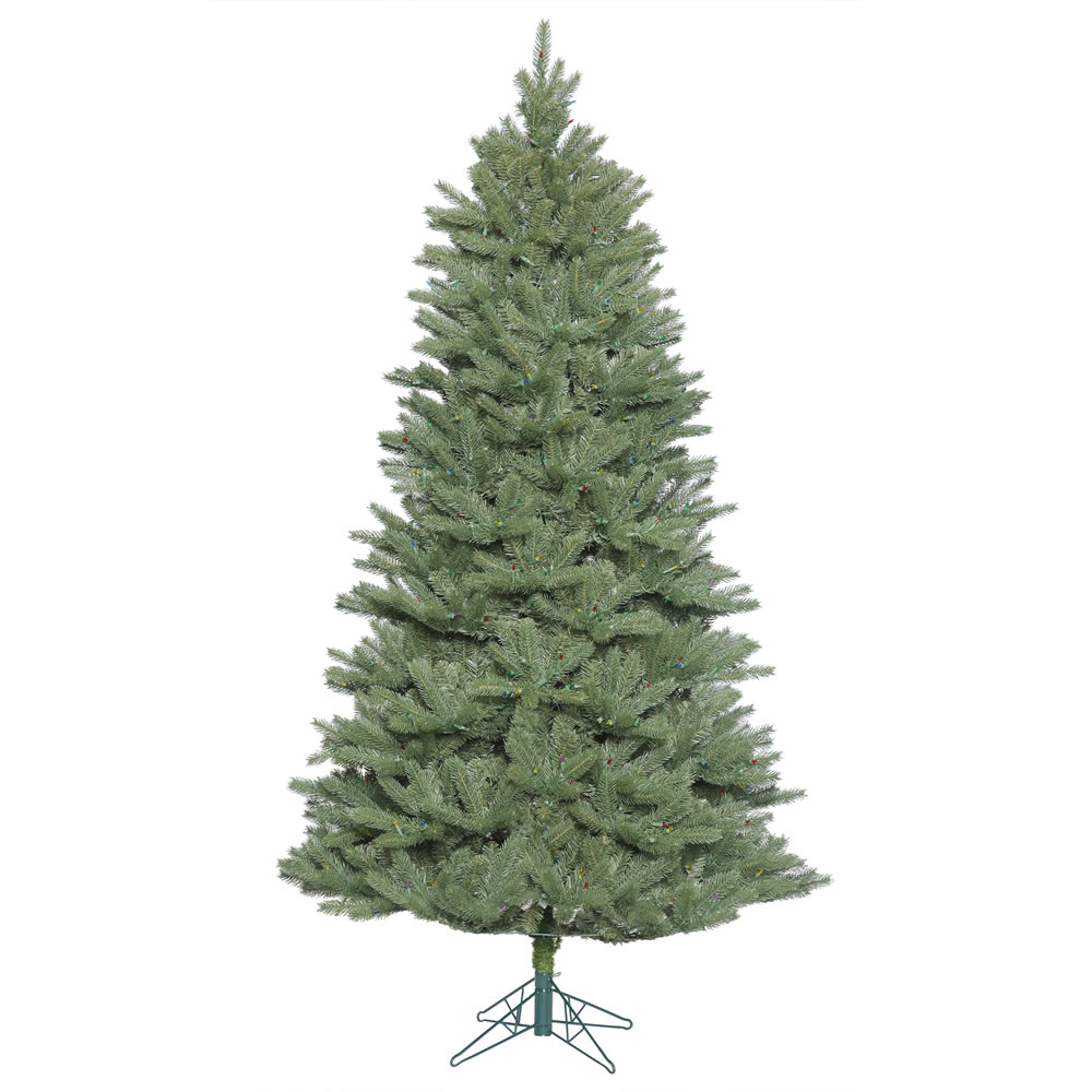 7.5 Foot Slim Colorado Spruce Artificial Christmas Tree Unlit