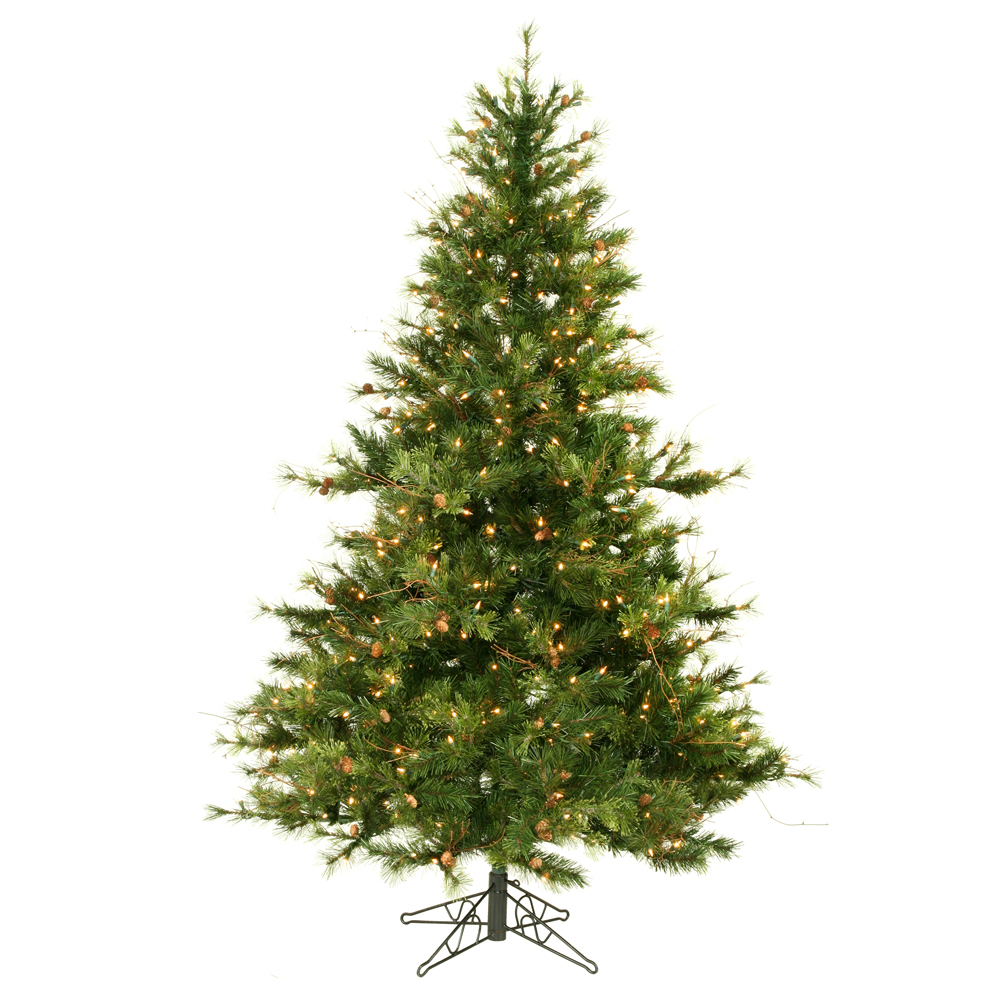 6.5 Foot Mixed Country Pine Lighted Artificial Christmas Tree Unlit