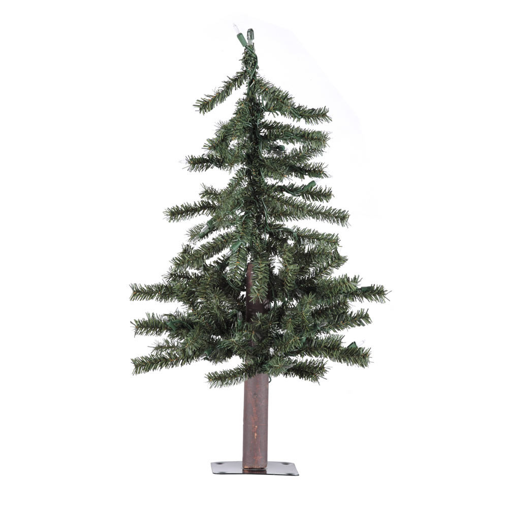 2 Foot Natural Alpine Artificial Christmas Tree Unlit