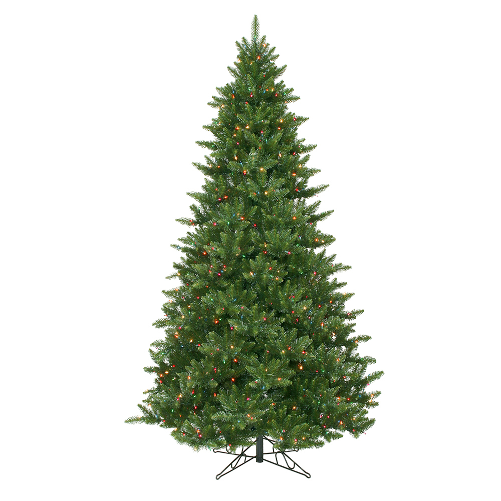 9.5 Foot Camdon Fir Artificial Christmas Tree 1350 DuraLit Incandescent Mu Light i Color Lights