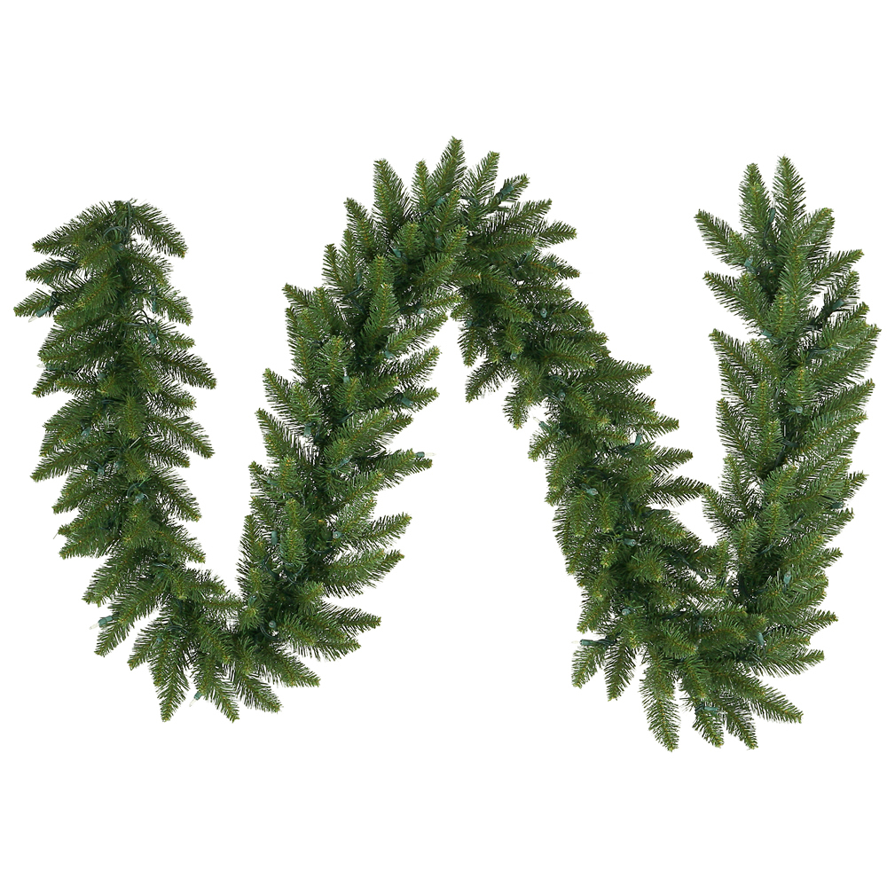 9 Foot Camdon Fir Artificial Christmas Garland 12 Inch Wide Unlit