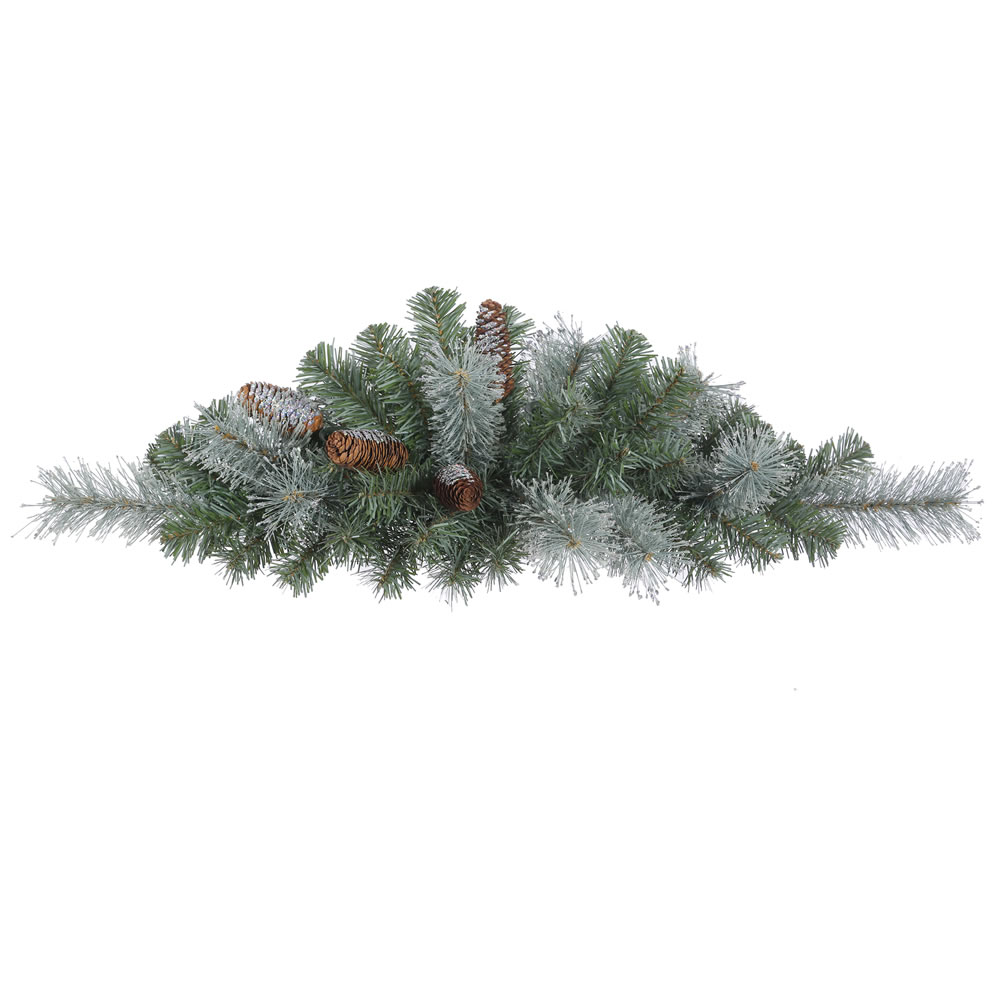 32 Inch Shasta Blue Mix Pine Artificial Christmas Swag Unlit