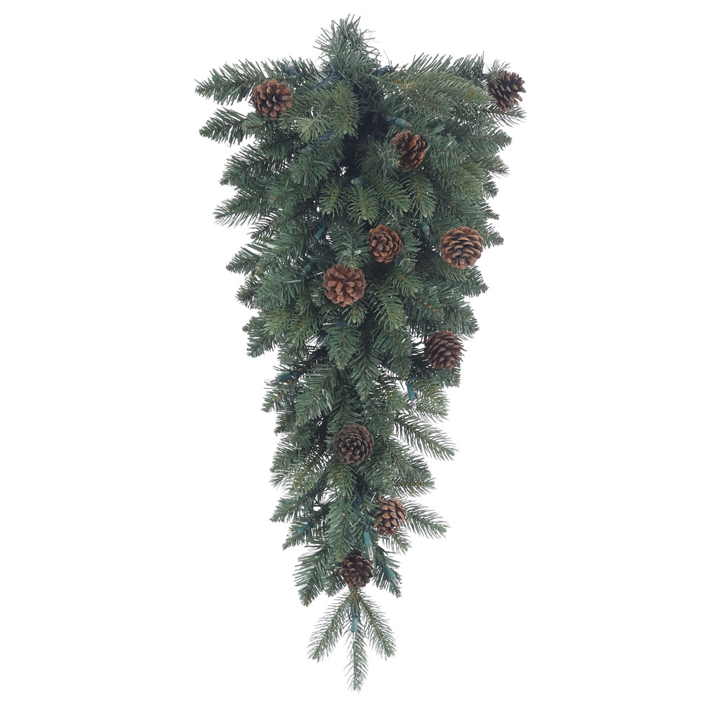 30 Inch Aberdeen Spruce Artificial Christmas Teardrop Unlit