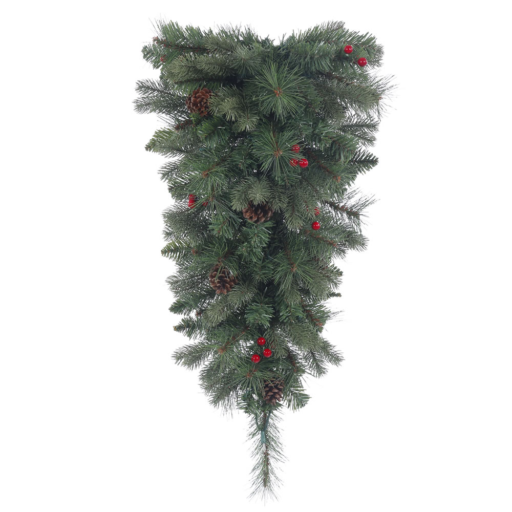 30 Inch Wesley Mixed Pine Artificial Christmas Teardrop Unlit