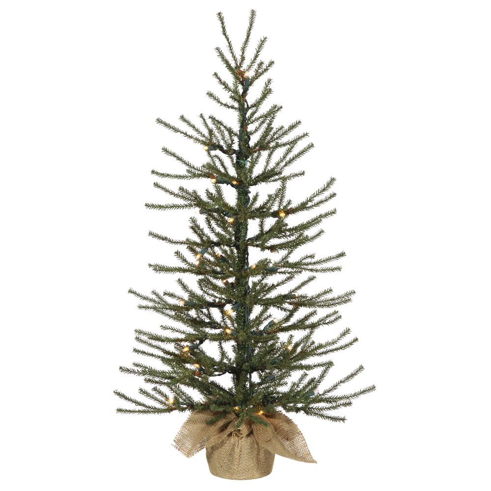 36 Inch Angel Pine Artificial Christmas Tree 50 DuraLit Incandescent Clear Mini Lights