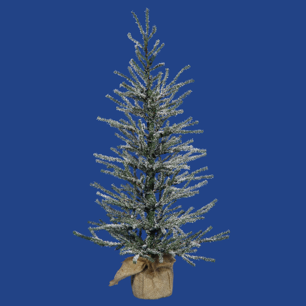 24 Inch Frosted Angel Pine Artificial Christmas Tree Unlit