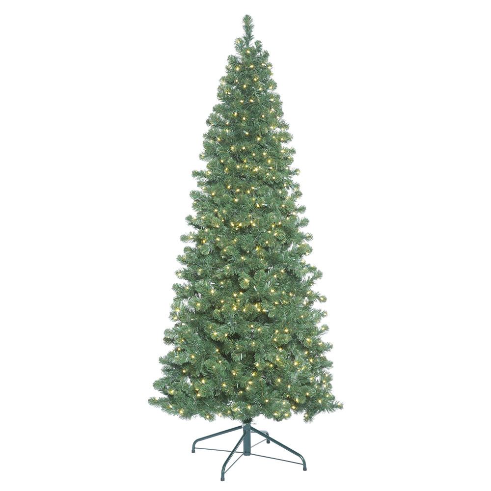 9.5 Foot Oregon Fir Artificial Christmas Tree 1400 LED 5MM Wide Angle Warm White Lights