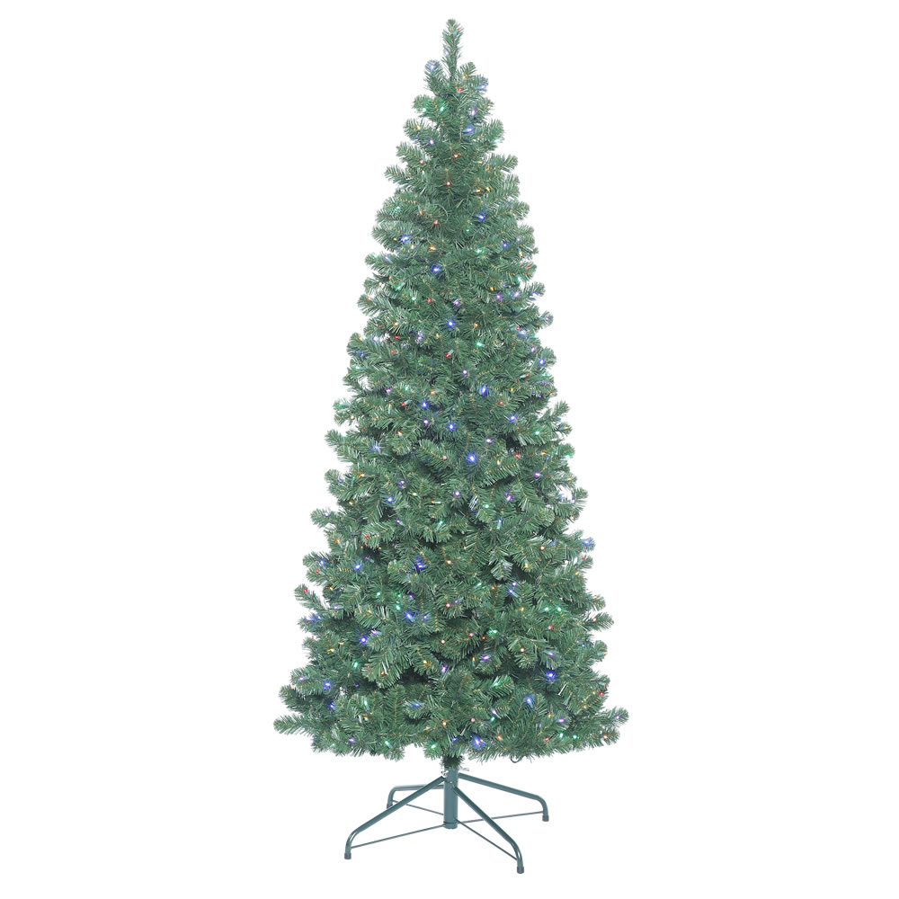15 Foot Oregon Fir Artificial Christmas Tree 3450 LED 5MM Wide Angle Multi Color Lights