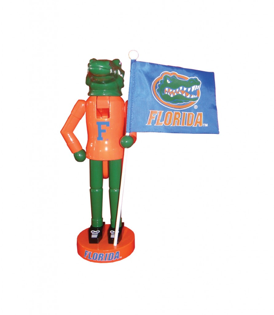 University of Florida Mascot with Flag Nutcracker Decoration