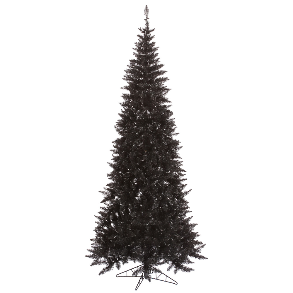 9 Foot Slim Black Artificial Halloween Tree Unlit