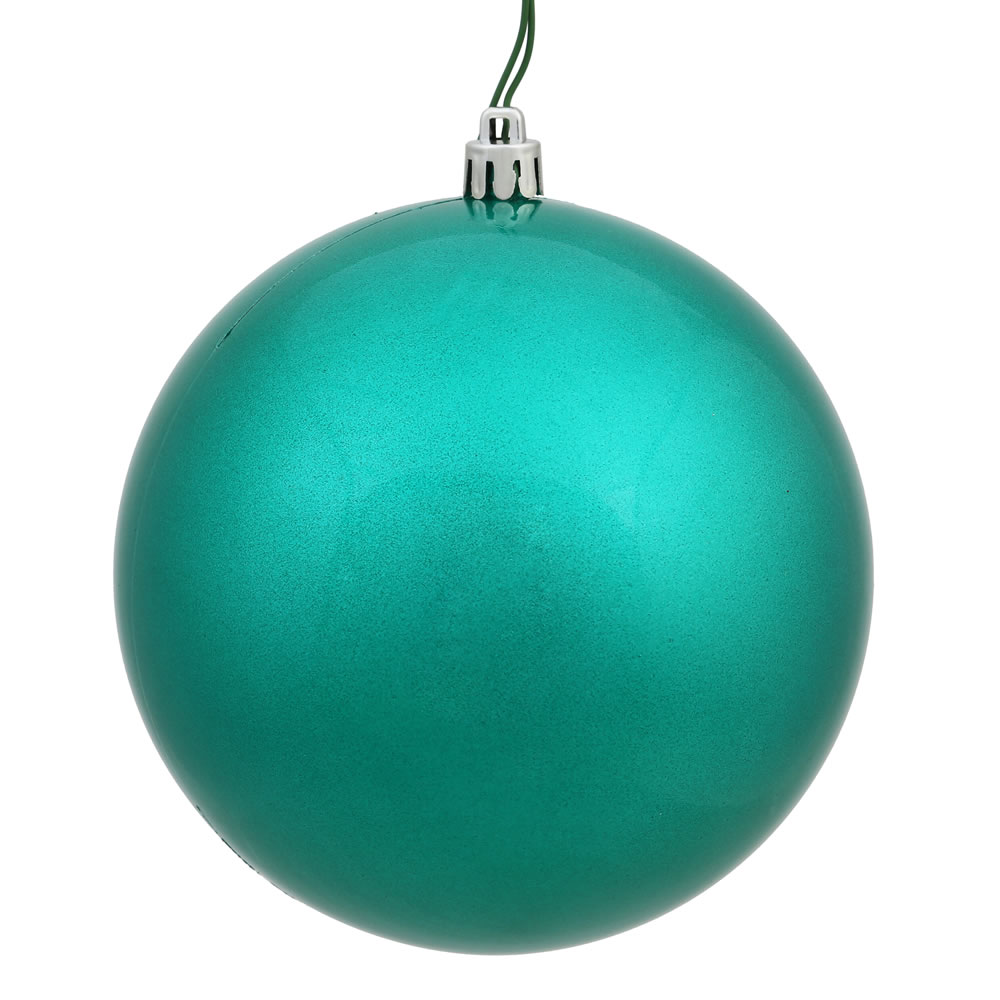 6 inch teal candy finish shatterproof ball ornament - Blue Christmas Ornaments