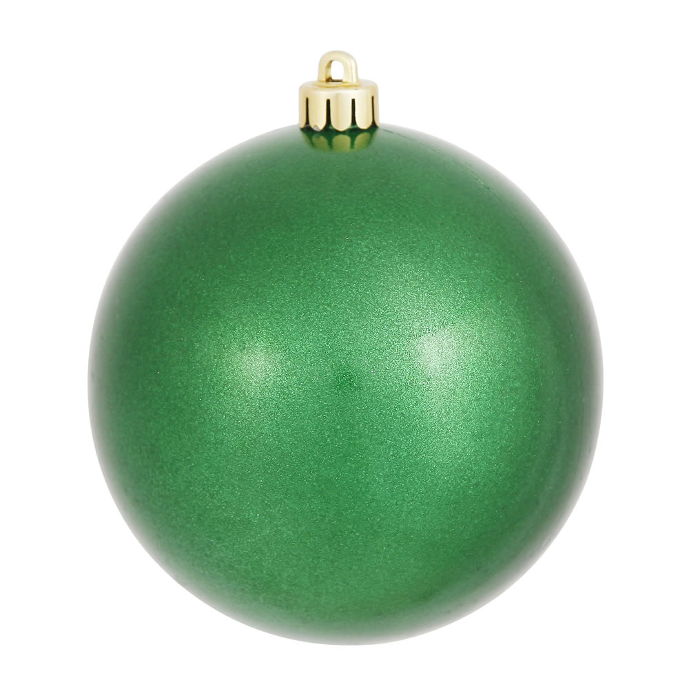 Plastic ornament hangers - 8 Inch Green Candy Christmas Ball Ornament Shatterproof