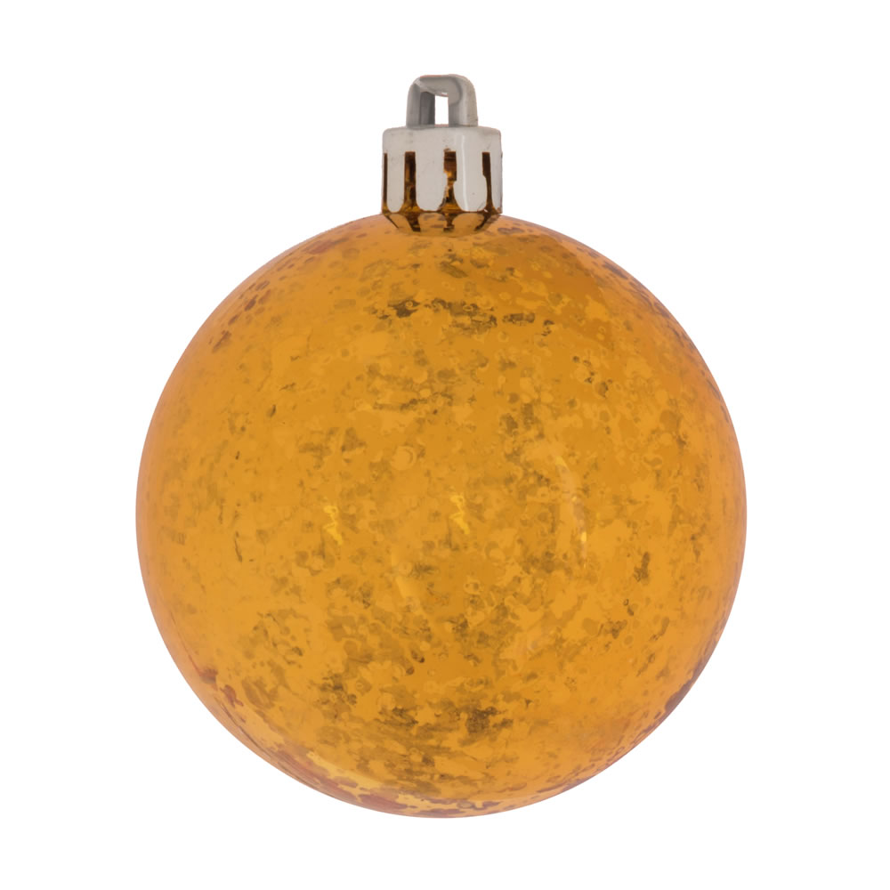 8 Inch Antique Gold Shiny Mercury Christmas Ball Ornament Shatterproof