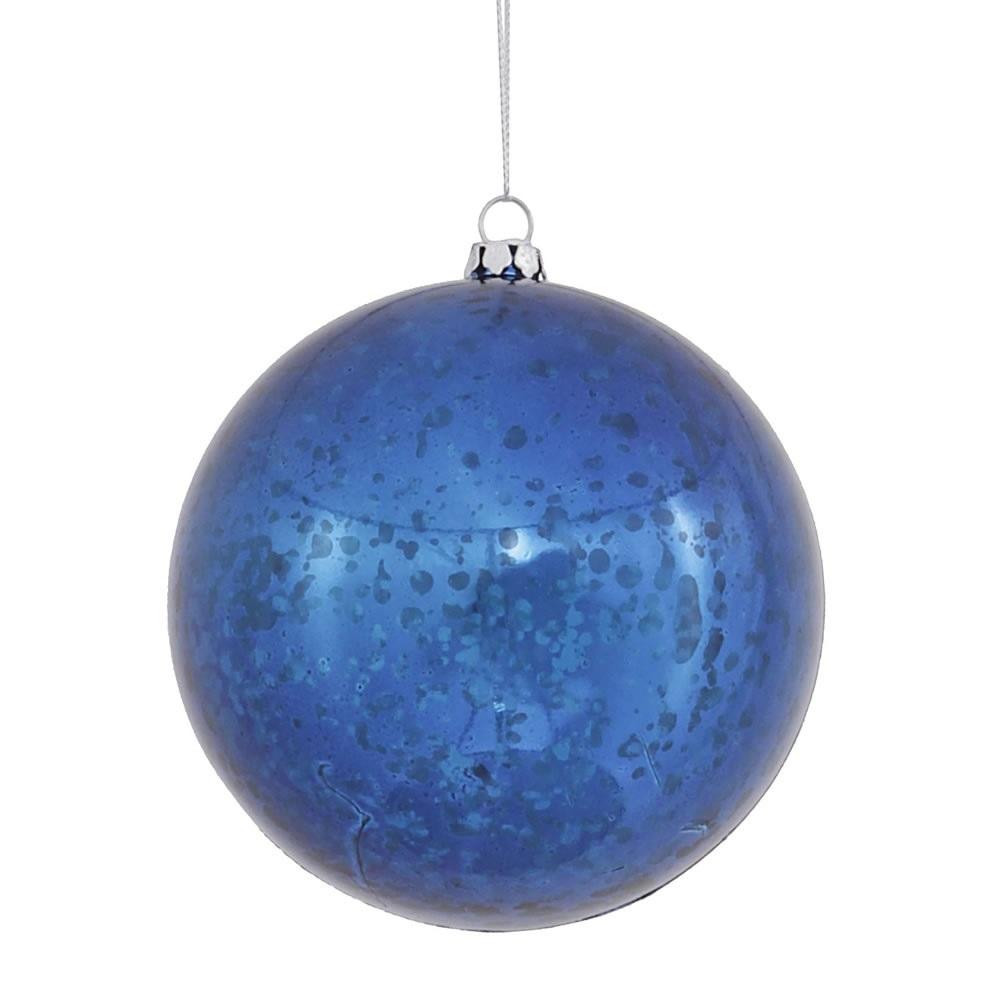 10 Inch Blue Shiny Mercury Christmas Ball Ornament Shatterproof