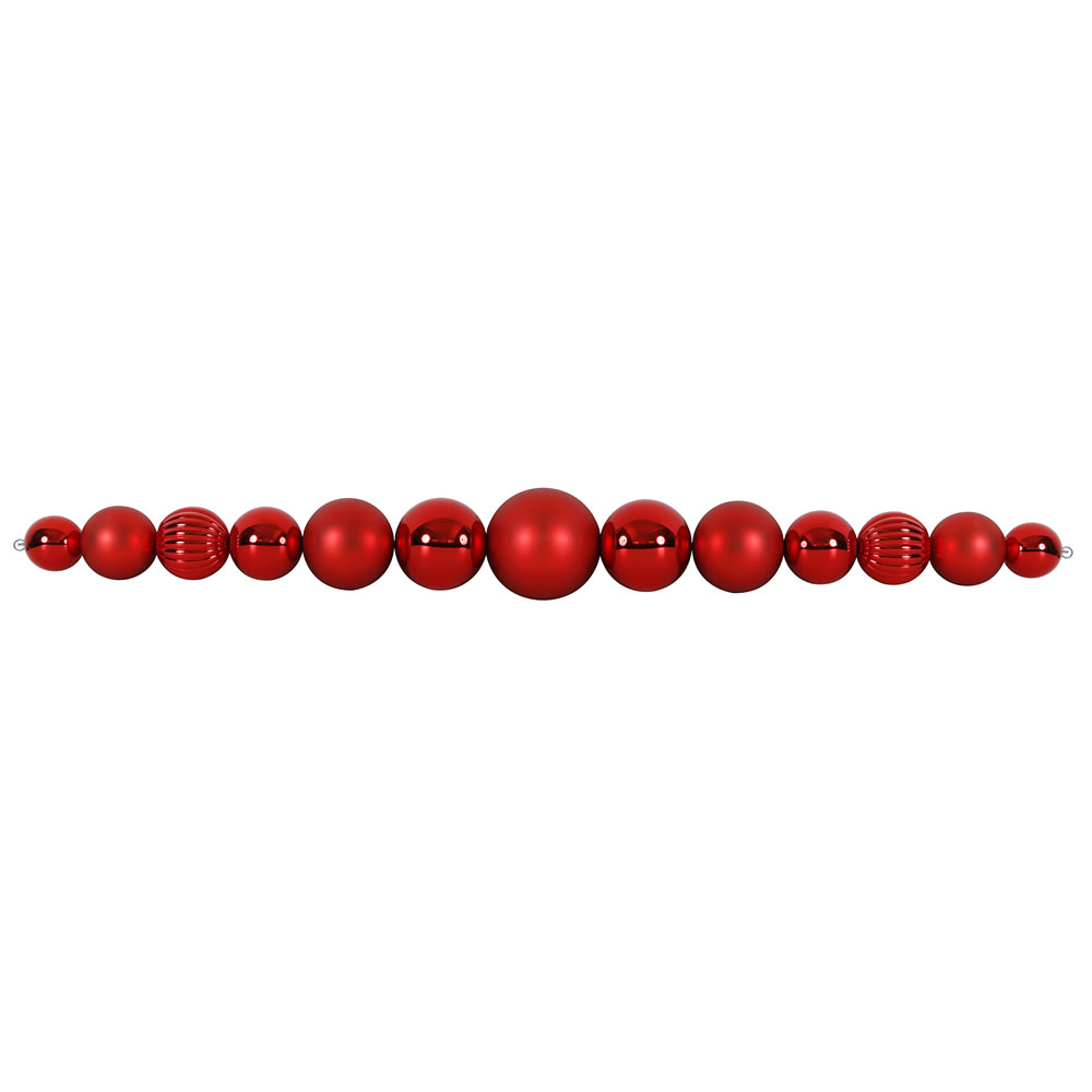 9 Foot Red Ball Garland UV Resistant