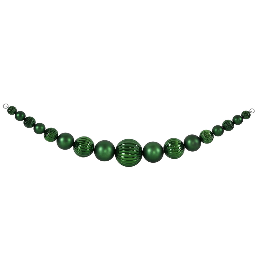 9 Foot Emerald Ball Garland UV Resistant