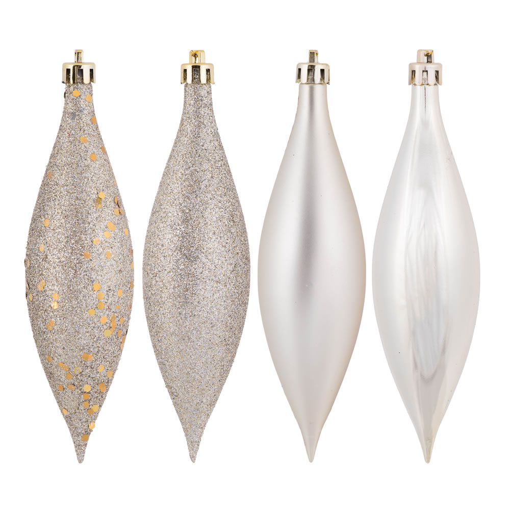 5.5 Inch Champagne Drop Christmas Ornament Assorted Finishes