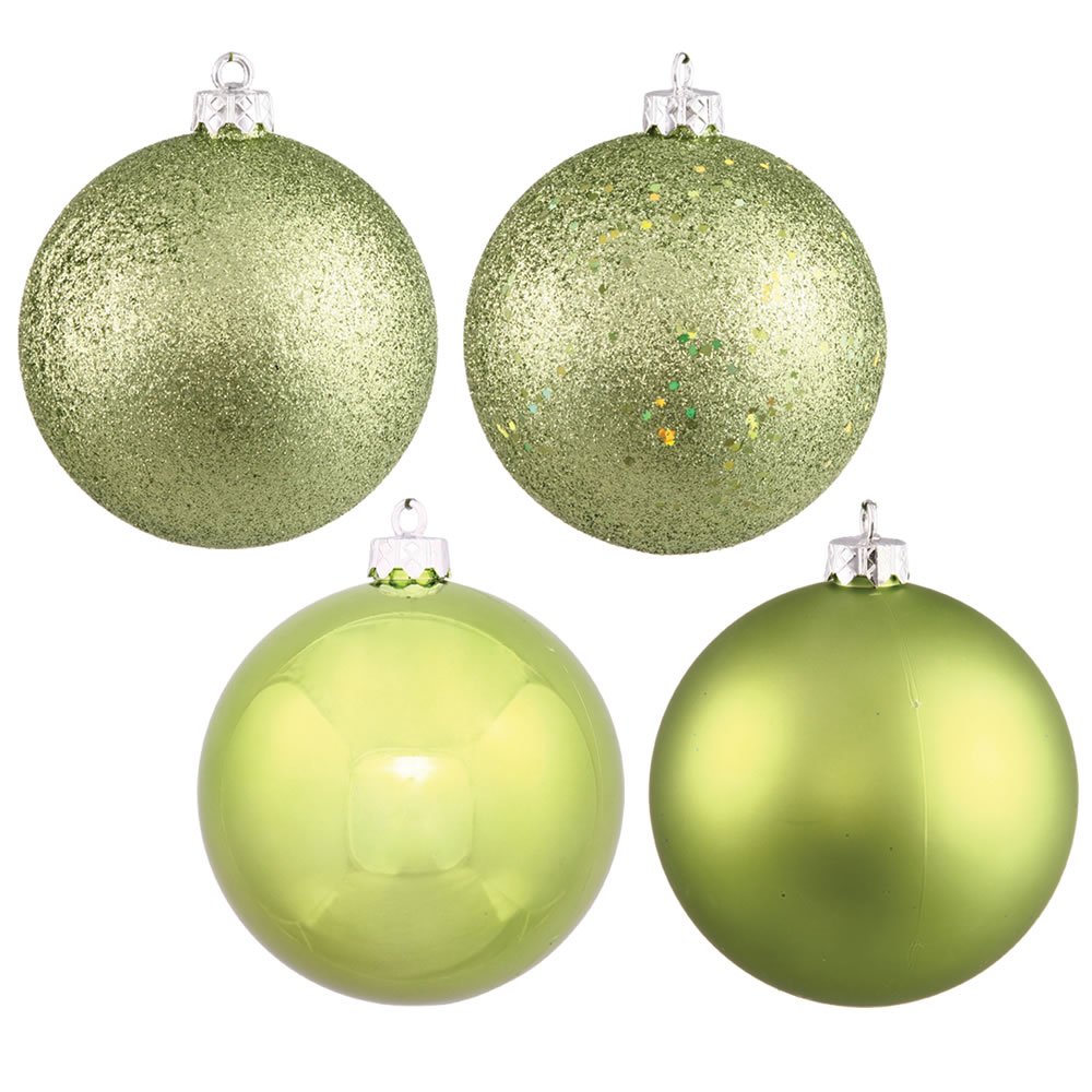 1 Inch Assorted Lime Plastic Ornament Box of 18