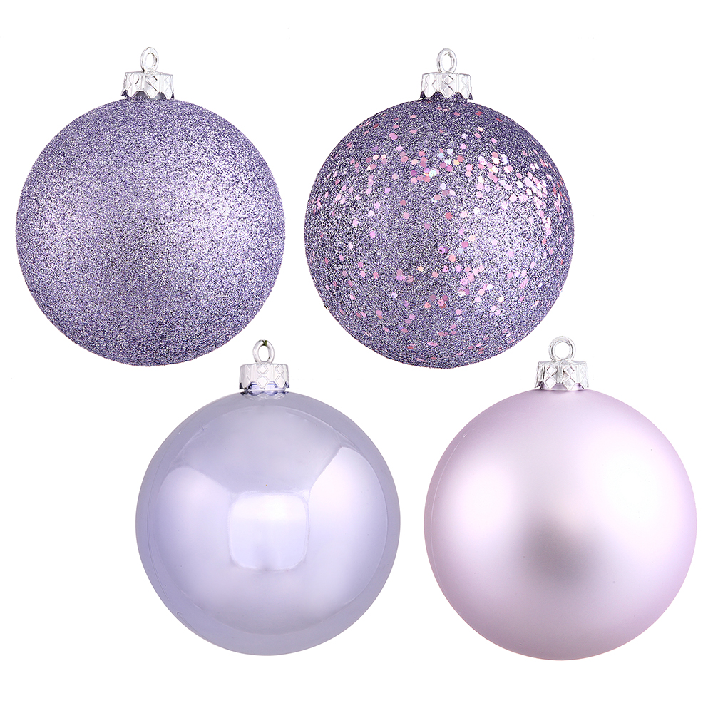 Lavender christmas ornaments - 1 Inch Lavender Ornament Assorted Finishes Box Of 18