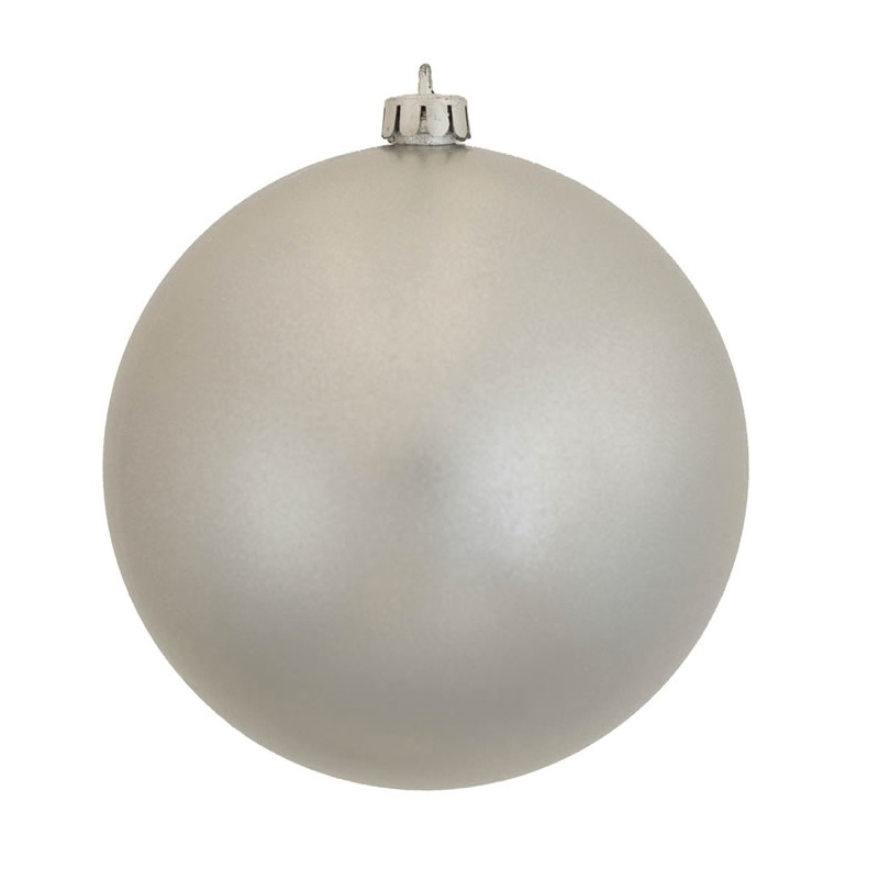 8 Inch Silver Candy Round Ornament
