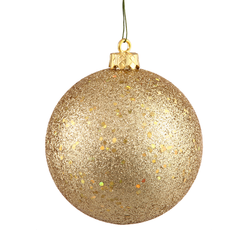 8 Inch Gold Sequin Round Ornament