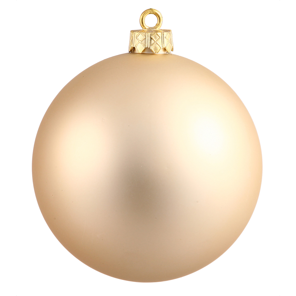 10 Inch Champagne Matte Ball Christmas Ornament