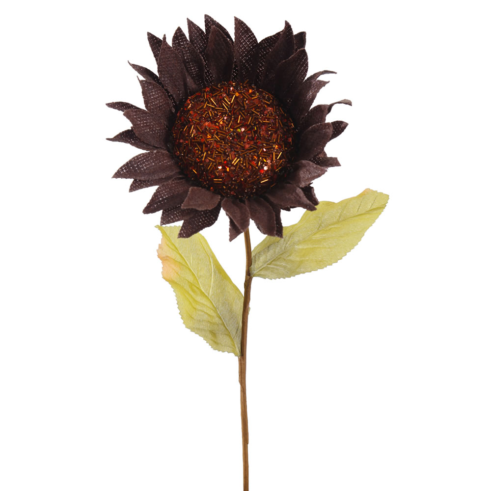 22 Inch Brown Burlap Sunflower Harvest Decoration