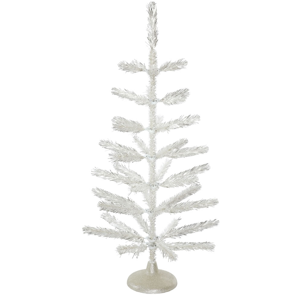 3 Foot Silver Feather Artificial Christmas Tree - Unlit