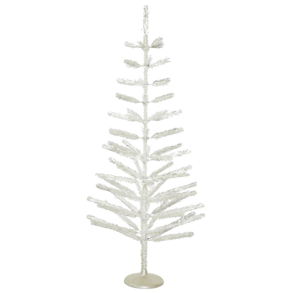 5 Foot Silver Feather Artificial Christmas Tree - Unlit