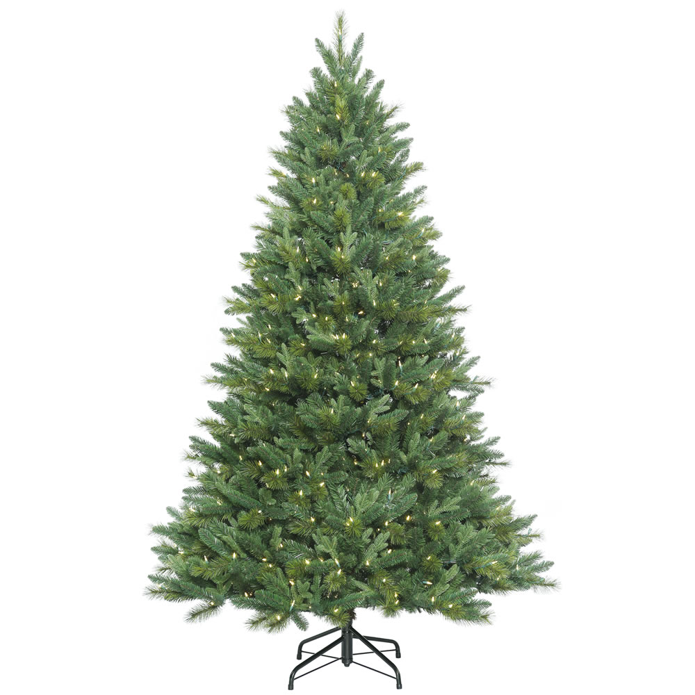12 Foot Dixon Mixed Pine Instant Shape Artificial Christmas Tree 1600 LED M5 Italian Warm White Lights
