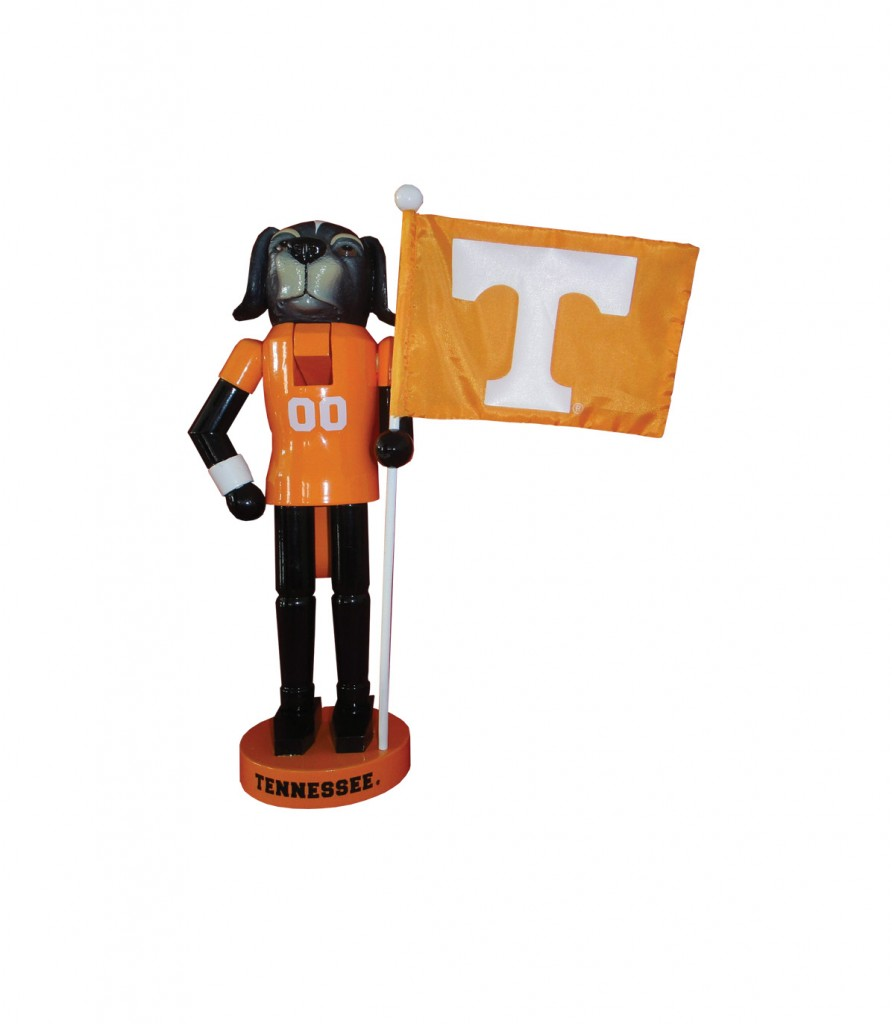 University of Tennessee Mascot with Flag Nutcracker Decoration