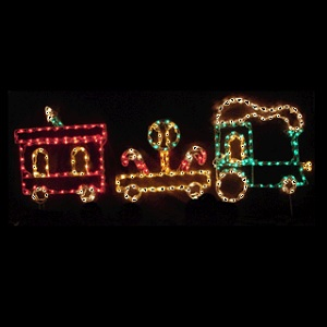 Lollipop Train LED Lighted Outdoor Christmas Decoration