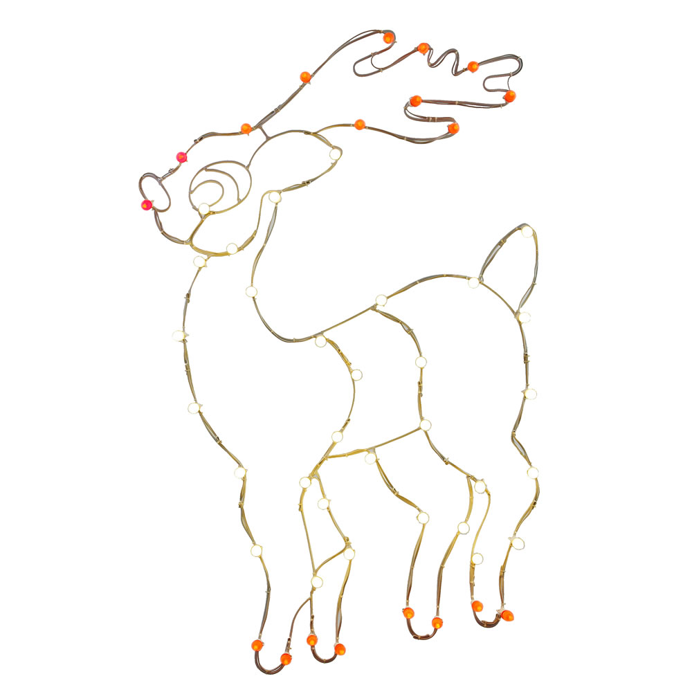 4 Foot Reindeer C7 Wire Motif