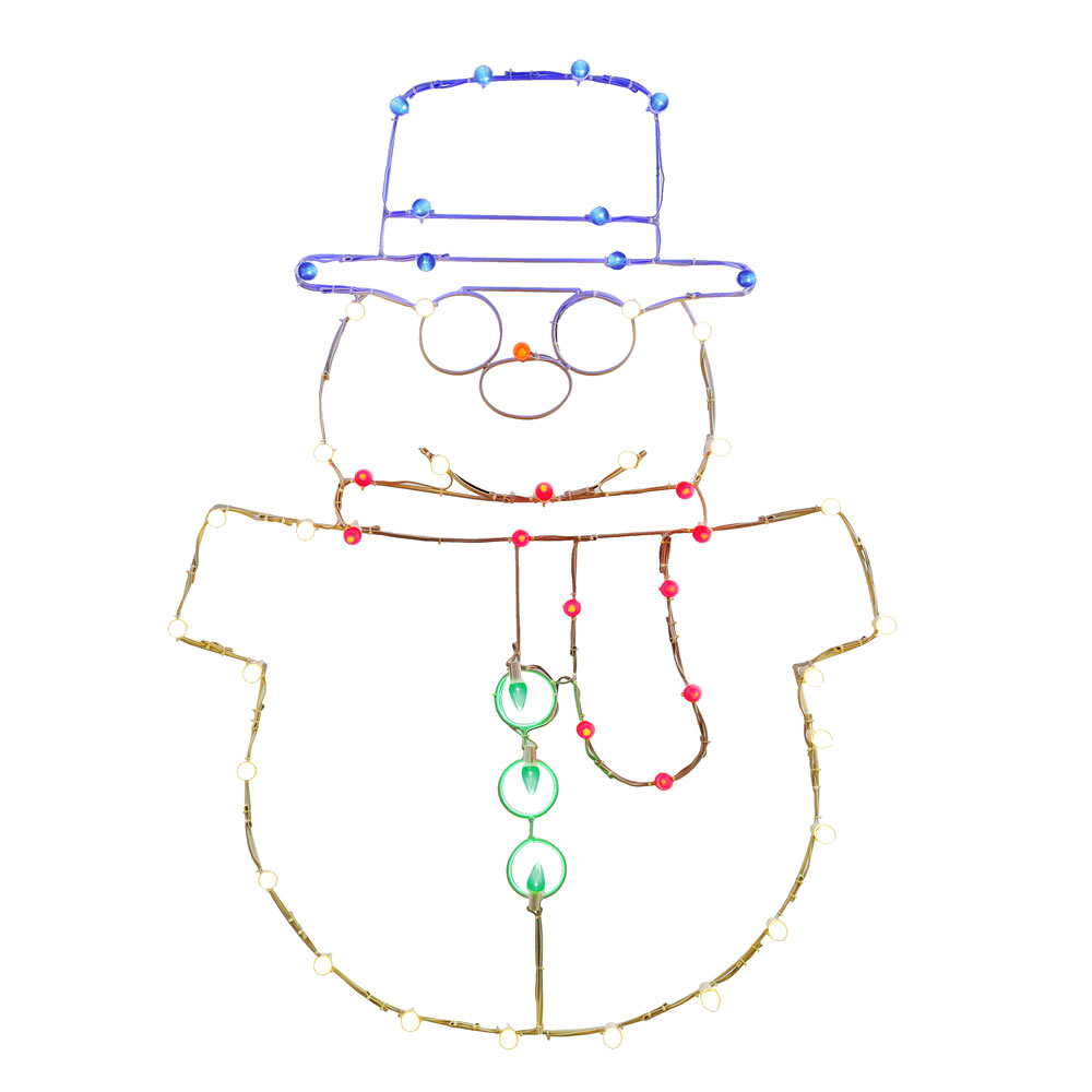 Lighted Snowman Wire Frame Decoration 50 C7 Lights