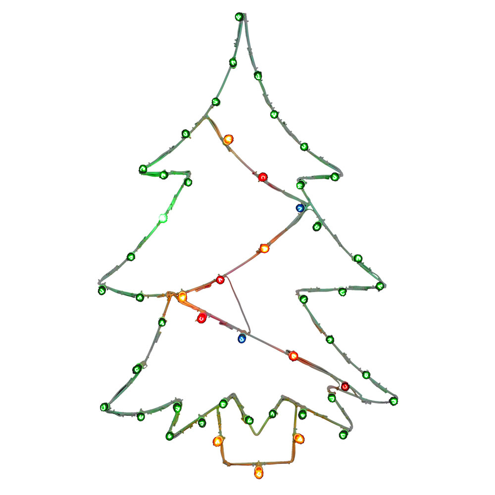 48 Inch Artificial Christmas Tree C7 Wire Motif
