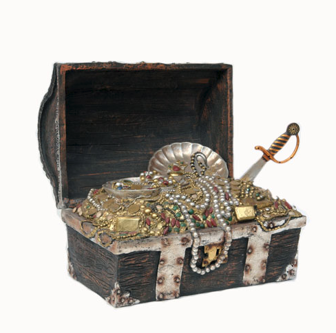 Pirate Treasure Chest Life Size Halloween Decoration 2 Foot