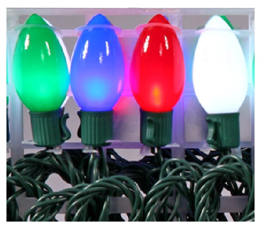 48 led c9 16 function multi color christmas light set